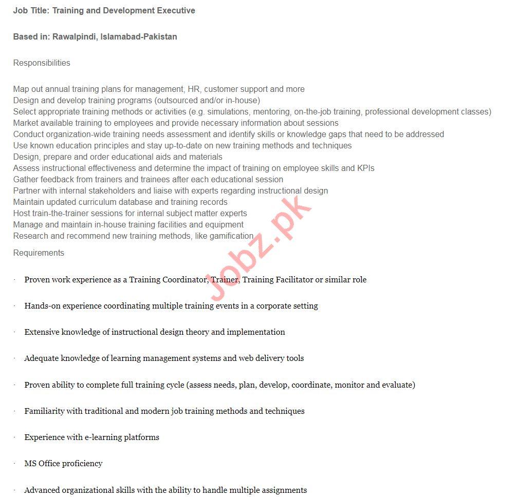 MicroEnsure Islamabad Jobs Training & Development Executive