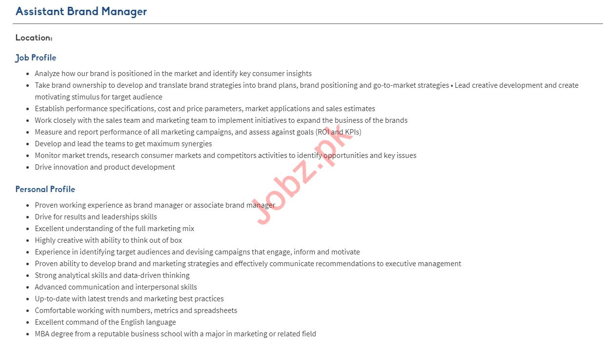 Diamond Foam Jobs for Assistant Brand Manager