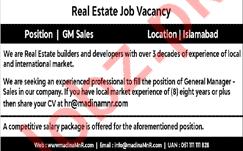 Real Estate Builder & Developer General Manager Sales Jobs