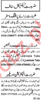 Technical Staff Jobs Career Opportunity in Lahore