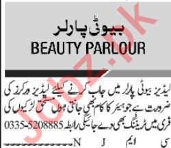 Beauty Parlour Job 2019 in Islamabad