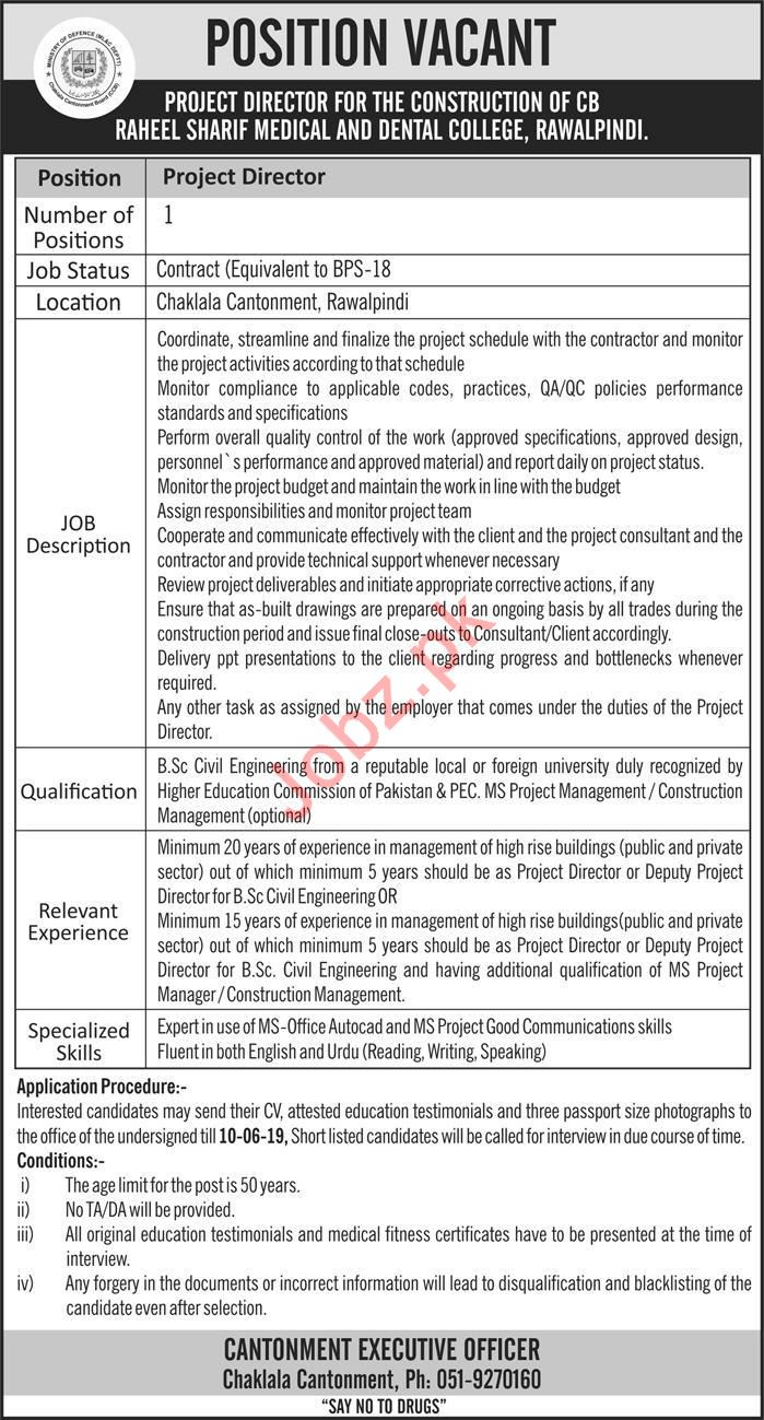 Project Director Job 2019 in Rawalpindi
