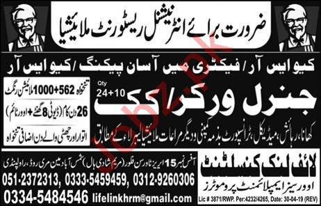 General Worker & Cook Jobs For Restaurant in Malaysia