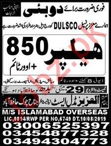 Dulsco LLC Jobs For Helpers in Dubai UAE