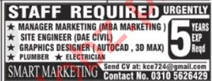 Smart Marketing Rawalpindi Jobs for Marketing Managers