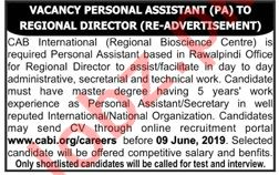 CAB International Rawalpindi CABI Jobs 2019