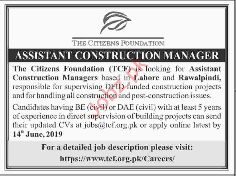 The Citizens Foundation Assistant Construction Manager Jobs