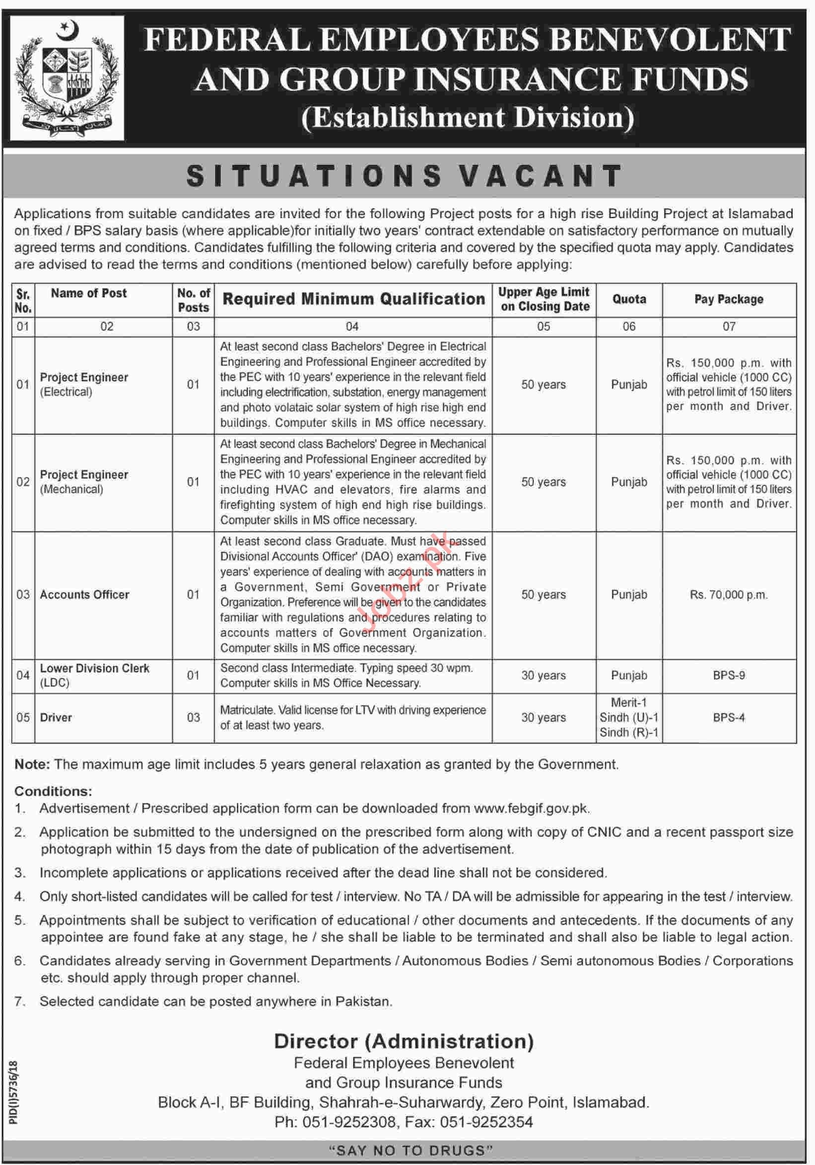 Federal Employees Benevolent & Group Insurance Funds Jobs
