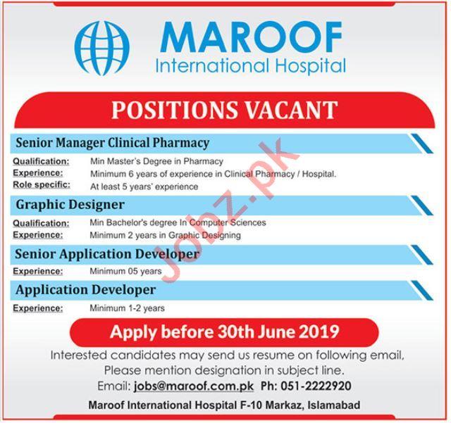 Maroof International Hospital Management Jobs 2019