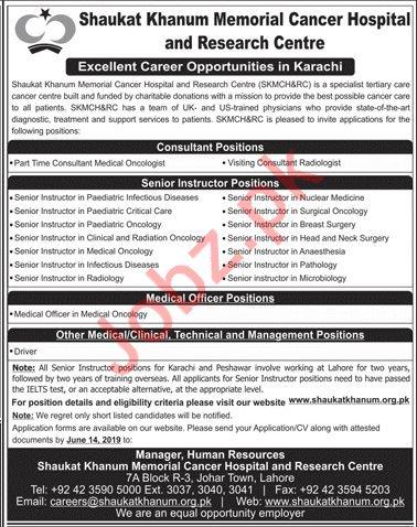 Shaukat Khanum Memorial Cancer Hospital Jobs in Karachi