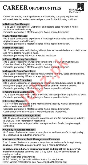 Shaping The Future Pvt Ltd Management Jobs 2019