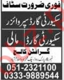 Grafton College Jobs 2019 For Islamabad