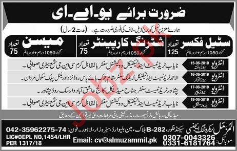 Construction Labors Jobs 2019 For UAE
