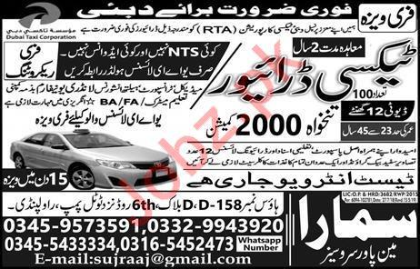 LTV Taxi Driver Job 2019 in Duba UAE