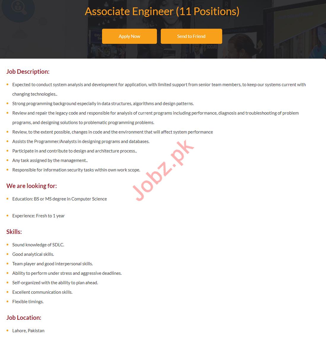 Associate Engineer Jobs 2019 in i2c Pakistan