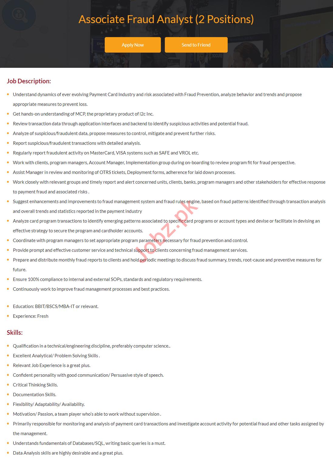 Associate Fraud Analyst Jobs 2019