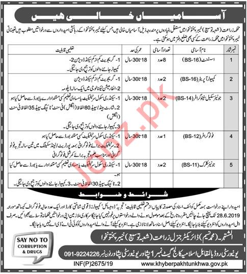 Agriculture Department Clerical Staff Jobs 2019