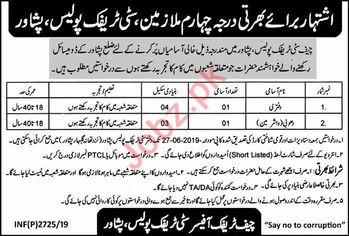 City Traffic Police Jobs in Peshawar