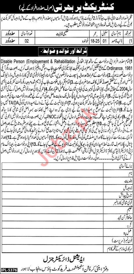 Anti Corruption Establishment Farid Kot House Punjab Jobs