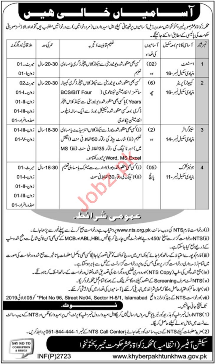 Auqaf & Religious Affairs KPK Jobs 2019 for Assistant