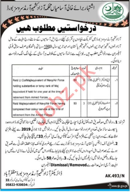 AJK Armed Services Board Jobs 2019 for Deputy Director