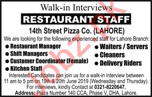 14th Street Pizza Company Walk In Interview 2019