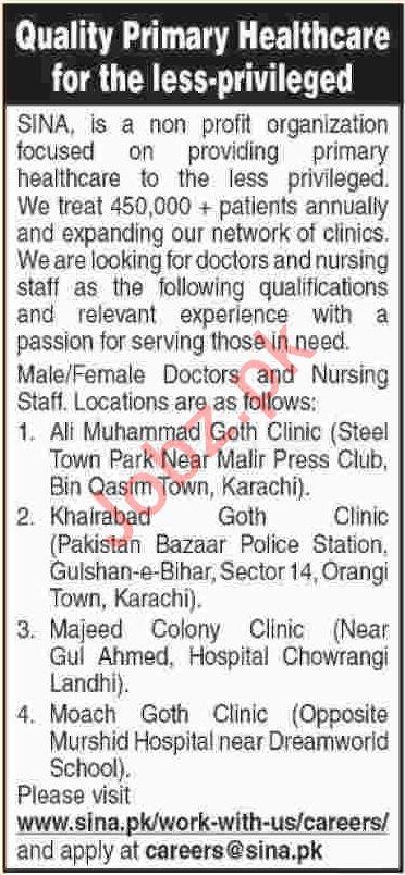Doctors & Nurses Jobs 2019 in Karachi