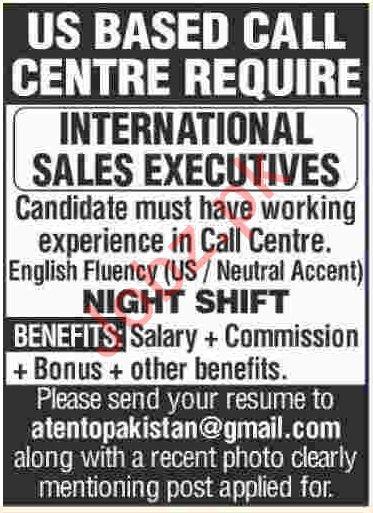 Sales Executives Jobs 2019 For Call Center in Karachi