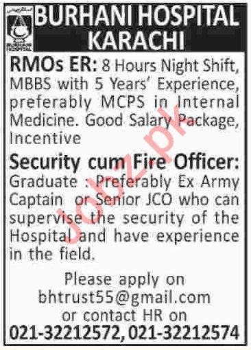 Burhani Hospital Jobs 2019 in Karachi