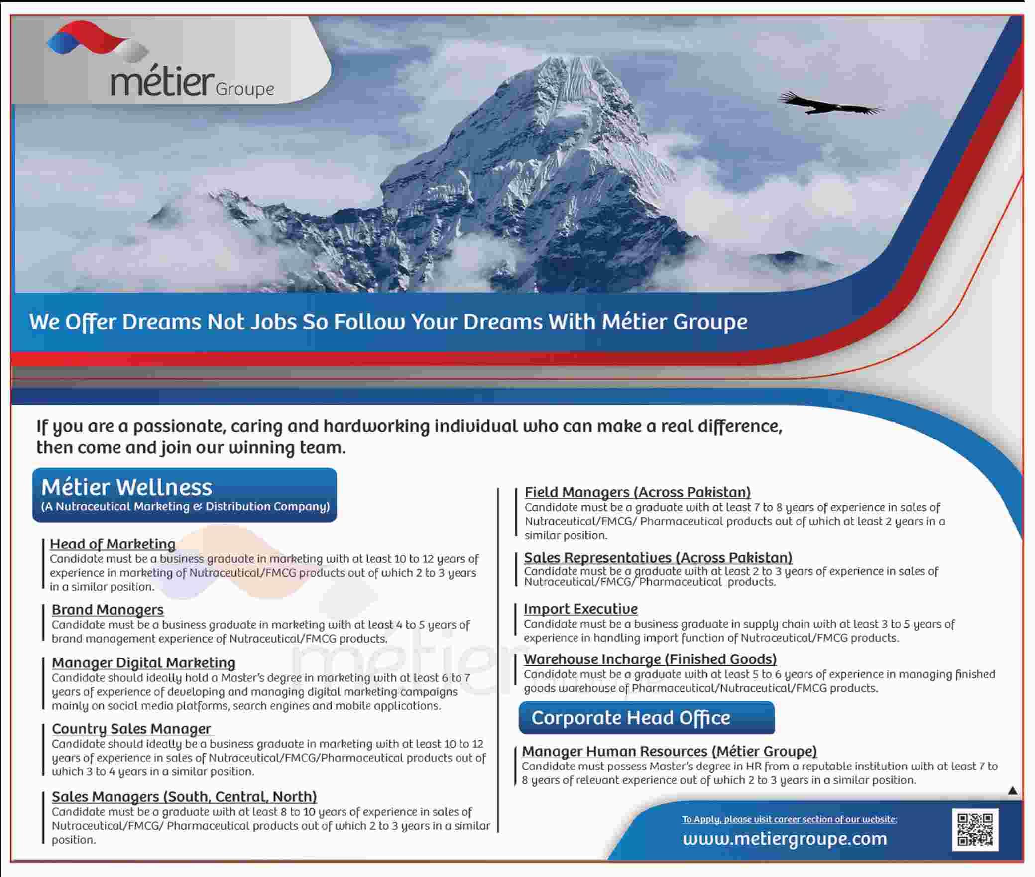Metier Group Management Jobs 2019