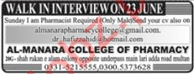 Al Manara College Of Pharmacy Jobs 2019