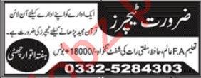 Teachers Jobs 2019 in Rawalpindi