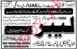 Labors Jobs 2019 in United Arab Emirates UAE