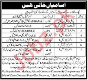 School Staff Jobs 2019 in Muzaffargarh