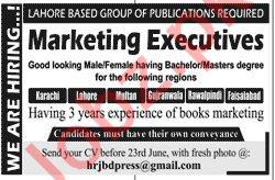 Marketing Executive Jobs 2019 in Rawalpindi