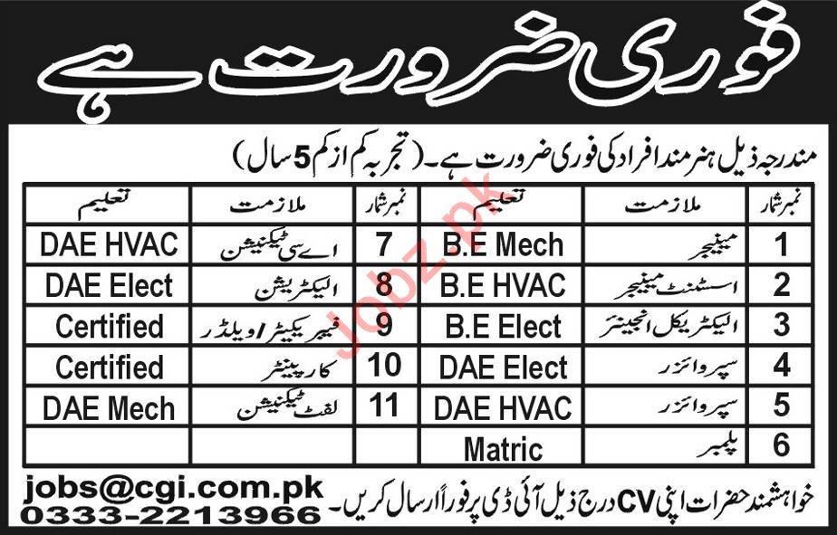 Manager Assistant Manager Supervisor Jobs in Peshawar