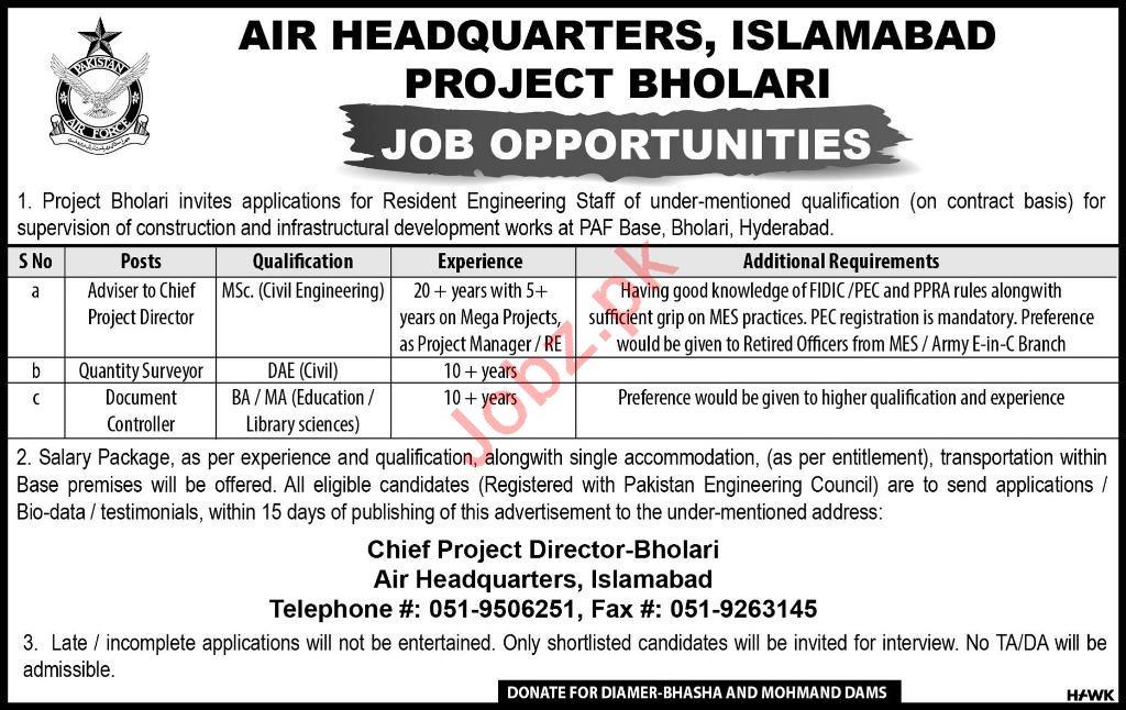 Air Headquarters Islamabad Jobs 2019