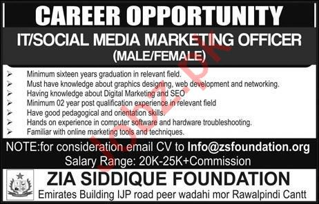 Social Media Marketing Officer Job in Rawalpindi