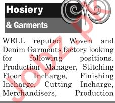The News Sunday Classified Ads 16th June 2019 for Hosiery
