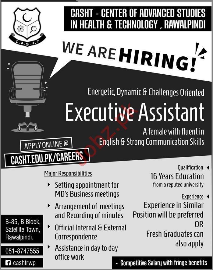 Executive Assistant Job in Rawalpindi