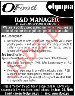 Olympia Group Jobs 2019 in Lahore