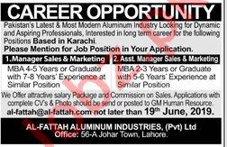 Al Fattah Aluminium Industries Pvt Ltd Jobs 2019