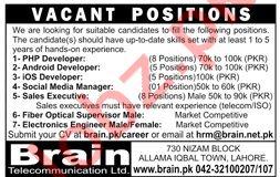PHP Developer Android Developer Jobs in Lahore