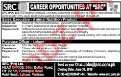 SRC Sales Executive & Purchase Officer Job in Lahore