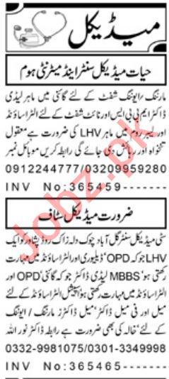 Medical Staff Jobs Open in Peshawar
