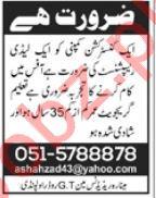 Receptionist Job 2019 in Rawalpindi