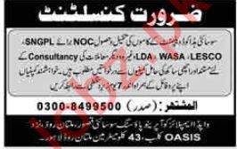 Consultant Job 2019 For Lahore