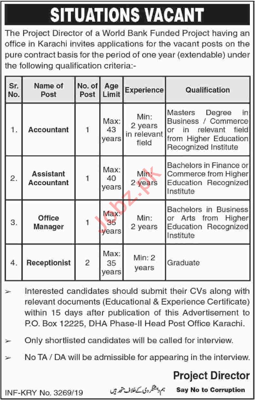 Public Sector Organization Jobs in Karachi