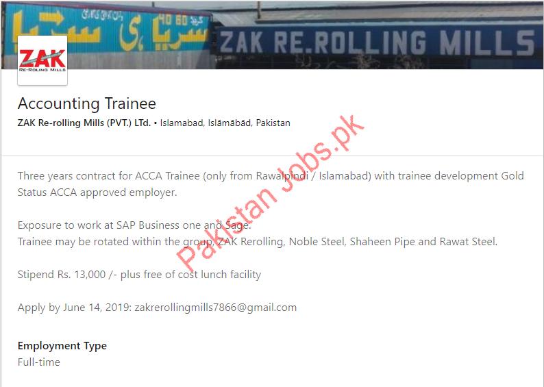 Accounting Trainee Job in Islamabad