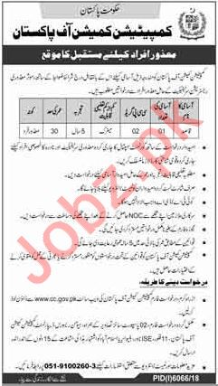 Competition Commission of Pakistan Disabled Persons Job 2019